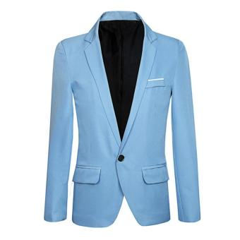 Harga en Sli Fit Foral One Button Suit Blazer Coat Jacket Tops
