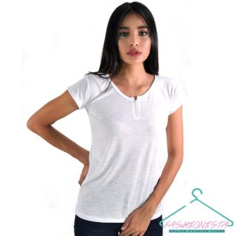 FASHIONISTA Women's Fashionable T-Shirt (White) Price Philippines