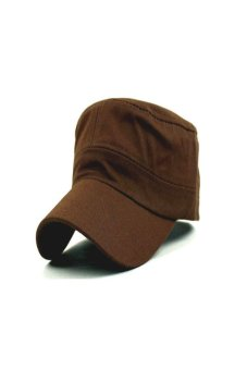 Hot Fashion Adjustable Classic Army Plain Vintage Hat Cadet Military Patrol Cap Coffee Price Philippines