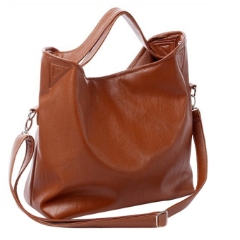 Women Hobo PU Leather Cross Body Shoulder Bag Brown Price Philippines