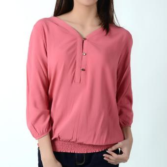 Harga No Apologies Quarter Sleeves Blouse NLT04-1663 (Holy Berry)
