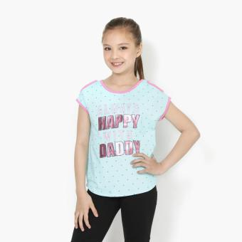 Harga jusTees Girls Always Happy With Daddy Cold-Shoulder Tee (Light Blue)