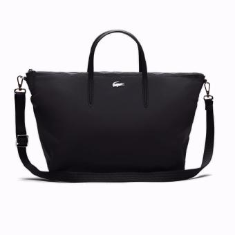 Harga Lacoste L.12.12 Concept Nylon Zippered Tote Bag - Horizontal (Black)