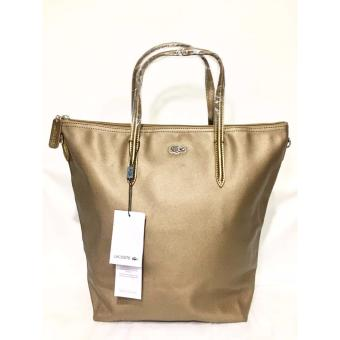 Harga LACOSTE WOMEN'S L.12.12 CONCEPT VERTICAL TOTE BAG BROWN