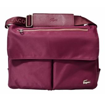 Harga Lacoste James Zip Messenger Bag (Magenta)
