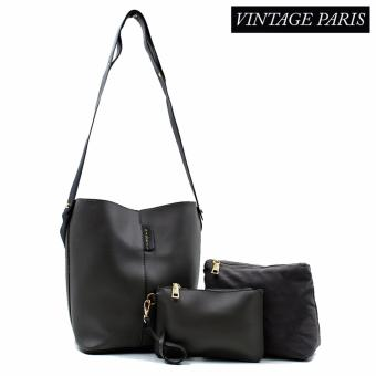 Harga Vintage Paris Luna Cross Body Sling Bag (Grey)