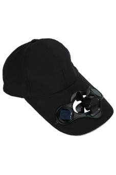 ing Fan for Golf Base Solar Power Hat Black