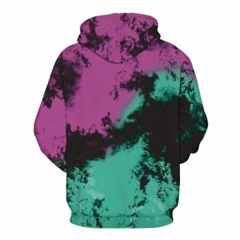 Innes Unisex Women Men 3D Digital Printed Kangaroo Pocket HoodieTop Pullover Hooded Sweatshirt - 2