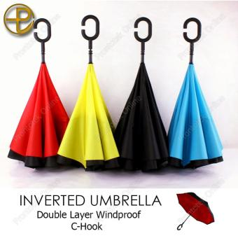 Innovative Double Layer Inverted Umbrella (Black)