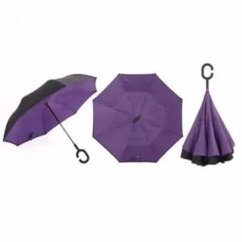 Innovative Double Layer Inverted Umbrella (purple)