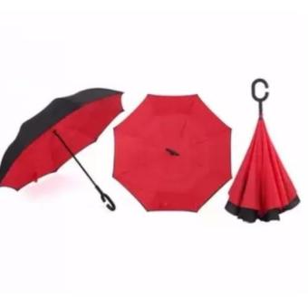 Innovative Double Layer Inverted Umbrella (red)