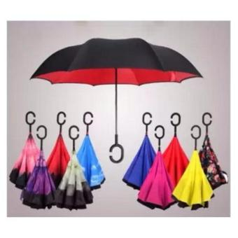 Innovative Double Layer Inverted Umbrella (red) - 3