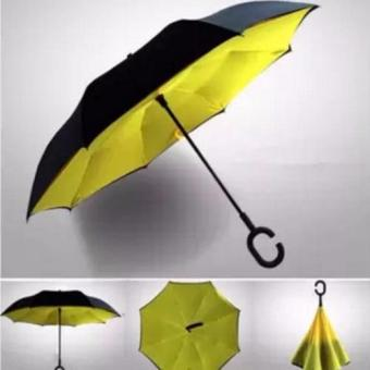Innovative Double Layer Inverted Umbrella (yellow)