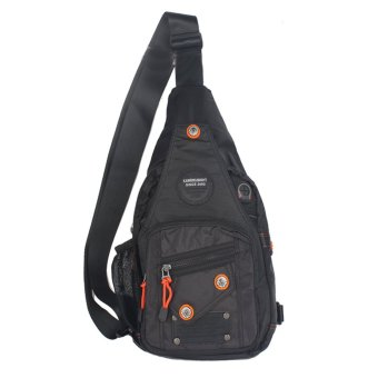 Innturt Nylon Sling Bag Backpack Shoulder Messenger(Black)