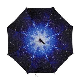 Inverted Reverse Umbrella Kazbrella Reversible (Galaxy) Free USBLed Light
