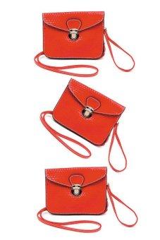 Iris Crossbody Bag Set of 3 (Red)