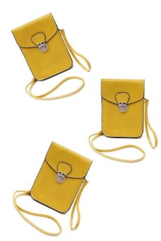 Iris Crossbody Bag Set of 3 (Yellow)
