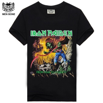 Iron Maiden Brand Black T Shirt New Style Heavy Metal StreetwearCustom Cotton T-shirt(Black) - intl Price Philippines