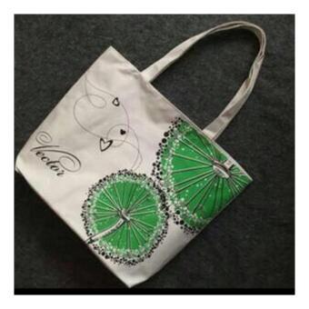 Isabel K001 Trendy Canvas Tote Bag Buy 1 Take 1 (Zebra) - 3