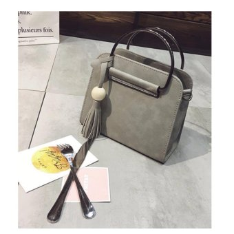 Isabel K015 Fashionable Top Handle Crossbody Bag With FringedTassel (Gray) Price Philippines