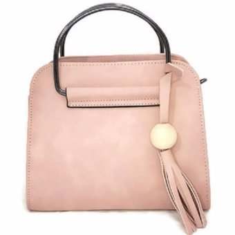 Isabel K015 Fashionable Top Handle Crossbody Bag With FringedTassel (Pink) Price Philippines
