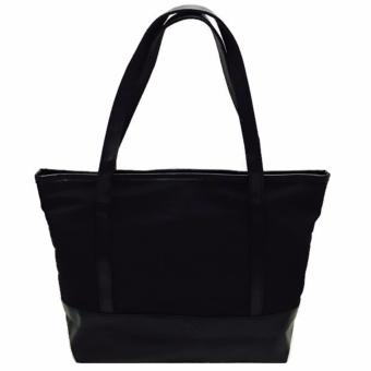 Isabel K018 Fashionable Nylon Shoulder Bag (Black)