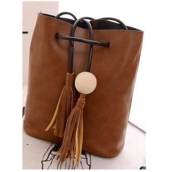 Isabel K029 Tassel Shoulder Bag (Brown)
