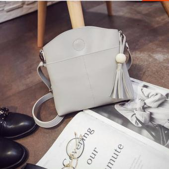 Isabel K063 Trendy Tassel Shoulder Crossbody Bag (Gray)