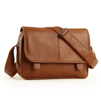 Italian Premium men Messenger Bags Leather Shoulder Bag for boys(Brown)