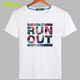 Japanese-style Cotton Short sleeved New style T-shirt (White-escape)