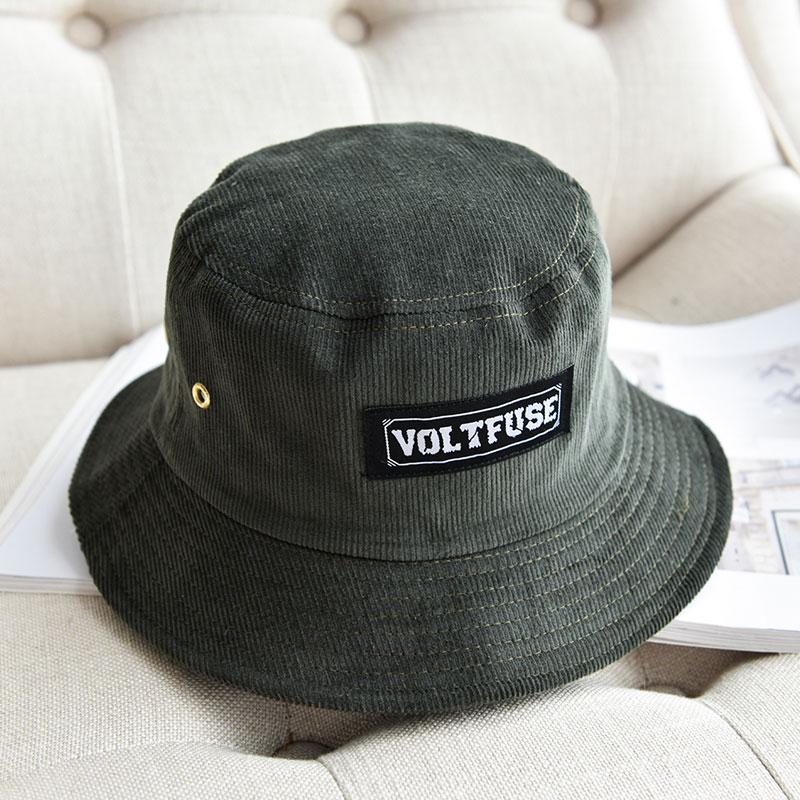 c5379c33bc1 Japanese-style wick velvet men and women couple s bucket hat fisherman hat  (Dark green