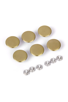 Jeans Glossy Buttons Hammer on 20mm Pack of 6 Sets Copper Color - picture 2