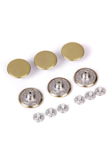Jeans Glossy Buttons Hammer on 20mm Pack of 6 Sets Copper Color