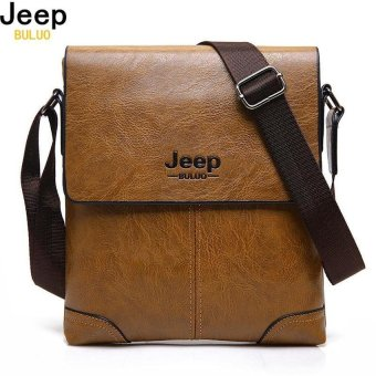JEEP BULUO Brand Men Leather Bags Casual Business Tote Bag For MaleFashion High Quality Hobos Office Mans Shoulder Bag 1302 - intl