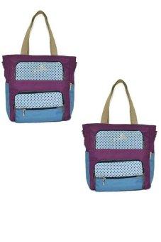 Jellybeans Tote Bag Majesty Set of 2 (Plum)