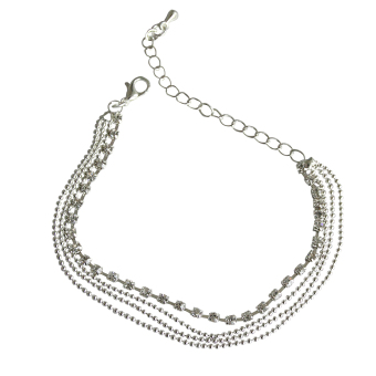 Jetting Buy Bohemian 4 Layers Crystal Beads Sandal Anklet