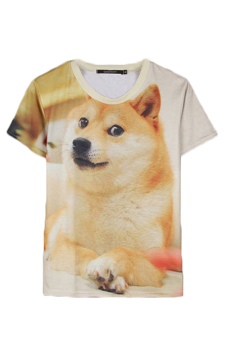 Jetting Buy Dog Printed T-Shirt White