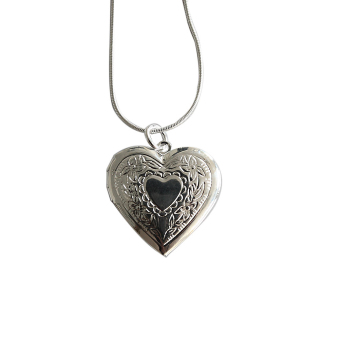 Jetting Buy Heart 925 Silver Plated Locket Necklace Silver