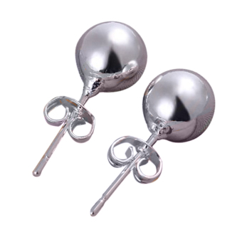 Jetting Buy Sterling Ball Bead Stud Earrings Silver
