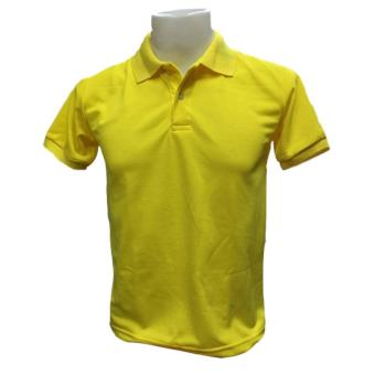 JEVANA Canary Yellow Plain Polo Shirt