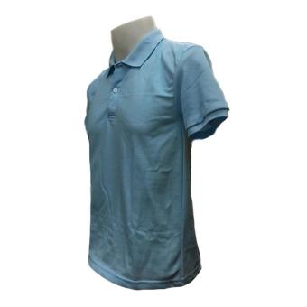 JEVANA Knitted Plain Polo Shirt (Light Blue) - 2