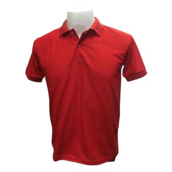 JEVANA Knitted Plain Polo Shirt (Red)