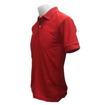 JEVANA Knitted Plain Polo Shirt (Red) - 3
