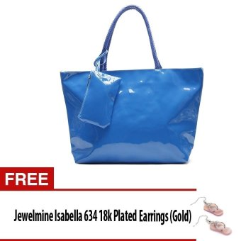 Jewelmine Cobble Hill 1 Tote Bag with Wristlet (Blue)