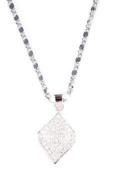 Jewelmine Ema 6 Pendant Necklace (Silver)