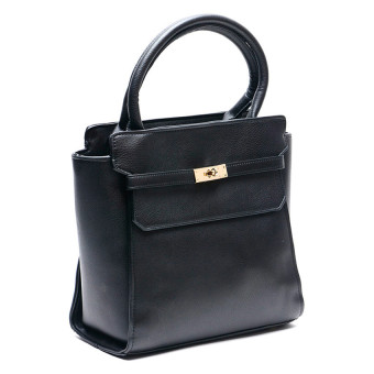 Jewelmine Hepburn Top-Handle Bag (Black)