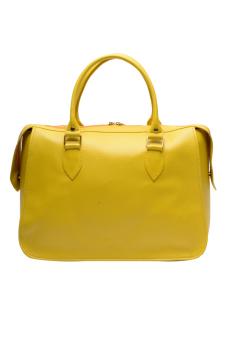 Jewelmine Hepburn Top-Handle Bag (Yellow)