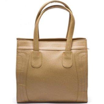 Jewelmine Reese Micro Luggage Tote Bag (Light Brown)