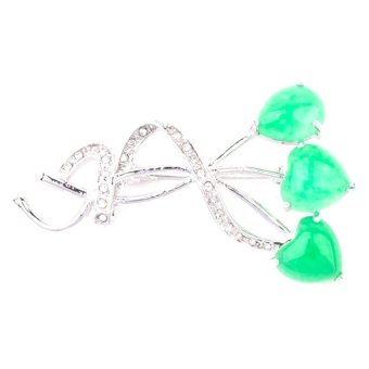 Jewelworld Imperial 18 Brooch (Green)