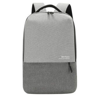 Jianyue contrasting color backpack (Gray)